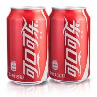可口可乐330ml*24听装 罐装碳酸饮料汽水 整箱装 易拉罐满2箱包邮(新旧包装随机发货)