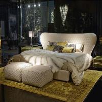 roberto cavalli进口家具意大利品牌卧室真皮双人床婚床家居定制