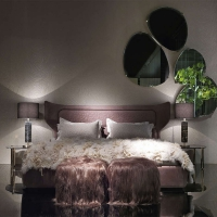 罗伯特·卡沃利意大利进口品牌家具卧室真皮双人床高档别墅家居